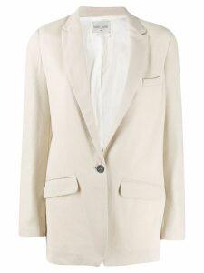 Forte Forte single breasted blazer jacket - Neutrals