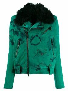 Dsquared2 tie-die biker jacket - Green
