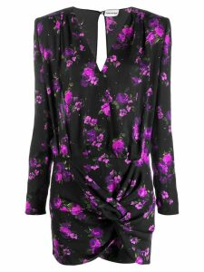Magda Butrym floral print short dress - Black