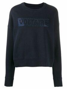 Zadig & Voltaire crystal-embellished sweatshirt - Blue