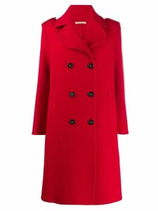 Massimo Alba double-breasted buttoned coat - Red