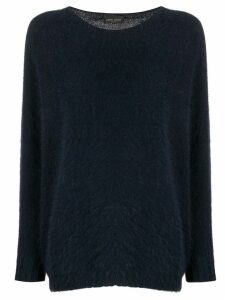 Roberto Collina boat neck jumper - Blue