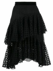 Philosophy Di Lorenzo Serafini tiered lace midi skirt - Black