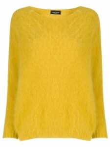 Roberto Collina boat neck textured jumper - Yellow