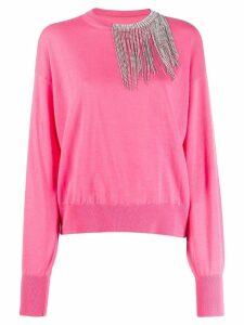 Circus Hotel embellished loose-fit jumper - Pink