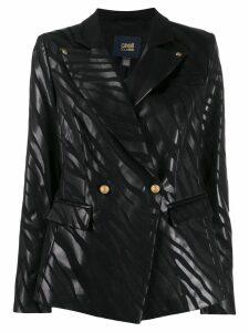 Cavalli Class zebra print blazer - Black