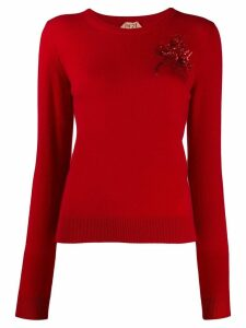 Nº21 embroidered knitted jumper