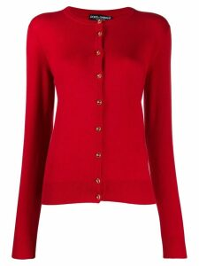 Dolce & Gabbana logo button up cardigan - Red