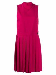 Blumarine pleated detail dress - Pink