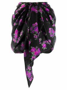Magda Butrym floral print short skirt - Black