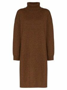 Rejina Pyo turtleneck knit knee-length dress - Brown