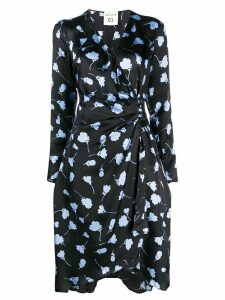 Semicouture floral patterned wrap dress - Blue