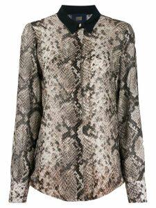 Cavalli Class snakeskin effect blouse - Neutrals