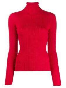 Lala Berlin ribbed turtle neck sweater - Red