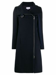 Patrizia Pepe D-ring detail fitted coat - Blue
