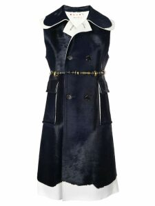 Marni oversized collar vest - Blue