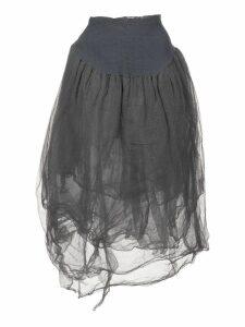 Marc Le Bihan asymmetric midi skirt - Grey