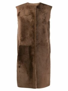 Desa 1972 oversized long coat - Brown