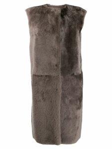 Desa 1972 oversized long coat - Grey