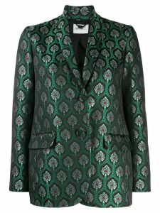 be blumarine metallic patterned blazer - Green