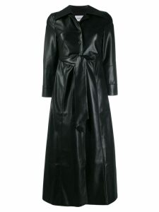 Nanushka faux-leather belted trenchcoat - Black