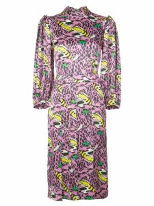 Marni monster print dress - PINK