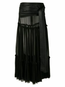 Andrea Bogosian Paraty Couture silk midi skirt - Black