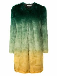 Mary Katrantzou Thalia ombre faux fur coat - Green