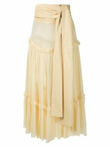 Andrea Bogosian Paraty Couture silk midi skirt - Yellow