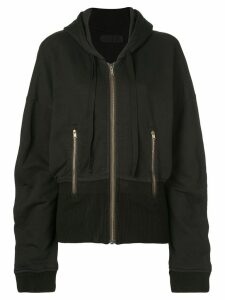 Haider Ackermann contrast detail hoodie - Black