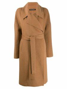 Iris Von Arnim belted wrap coat - Brown