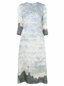Tsumori Chisato all-over print midi dress - Blue