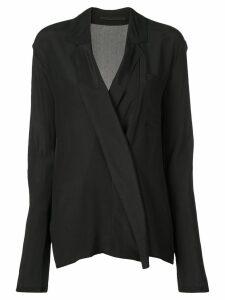 Haider Ackermann double-breasted shirt - Black