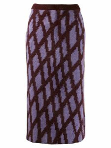 Christian Wijnants triangular patterned skirt - PURPLE