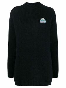 Alanui oversized knit sweater - Blue