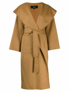 Arma belted wool wrap coat - Neutrals