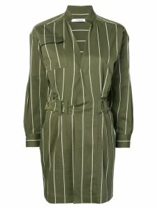 Derek Lam 10 Crosby striped utility dress - Green