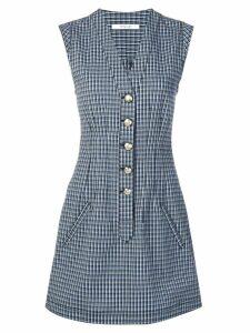 Derek Lam 10 Crosby mouline check dress - Blue