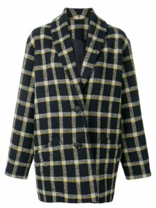 Derek Lam 10 Crosby plaid cocoon coat - Blue