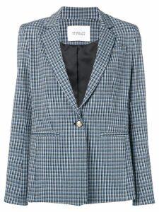 Derek Lam 10 Crosby mouline check bowery blazer - Blue