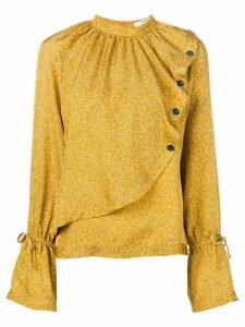 Derek Lam 10 Crosby mini paisley asymmetric blouse - Yellow