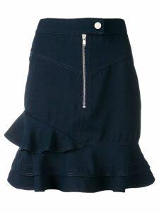 Derek Lam 10 Crosby washed canvas ruffle skirt - Blue