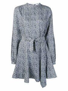 Derek Lam 10 Crosby mini paisley flared dress - Blue