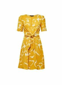 Womens **Vero Moda Yellow Abstract Print Dress, Yellow