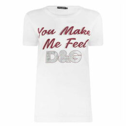 Dolce and Gabbana Slogan T Shirt