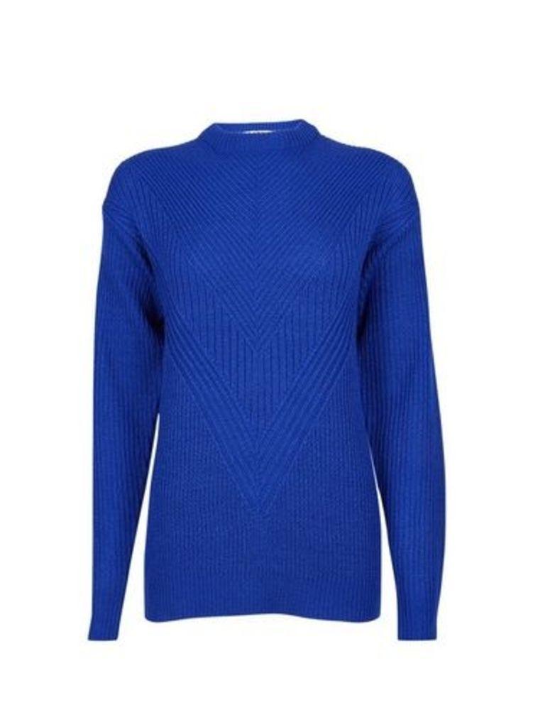 Womens **Tall Cobalt Acrylic Jumper- Blue, Blue