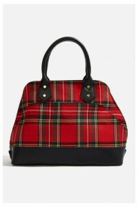 Womens **Tartan Kettle Tote Bag By Skinnydip - Red, Red