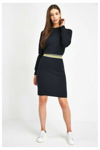 Womens BOSS Blue Iwearit Crew Neck Jumper Dress -  Blue