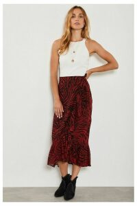 Womens Mint Velvet Red Naomi Print Wrap Skirt -  Red
