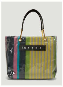Marni Glossy Grip Medium Tote Bag in Yellow size One Size